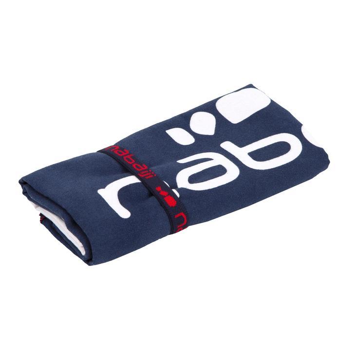 Microvezelhanddoek met print rood/blauw L