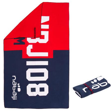 Serviette microfibre imprimé rouge/bleu G