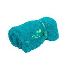 Serviette de bain microfibre douce pour cheveux bleu