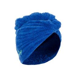 Toalla microfibra suave para el pelo azul