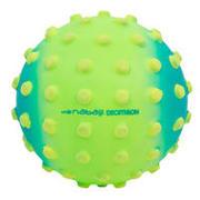 Majhna zelena žoga za bazen z rumenimi pikami