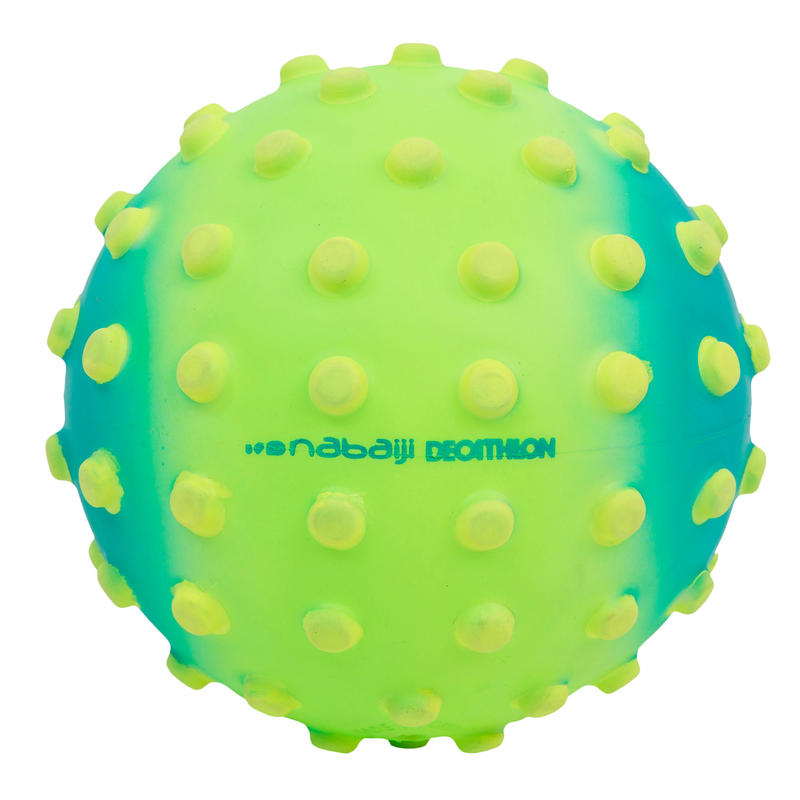 Green small learning to swim ball with yellow dots