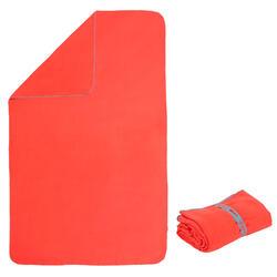 Toalla Naranja Microfibra Compacta Talla L 80 x 130Cm