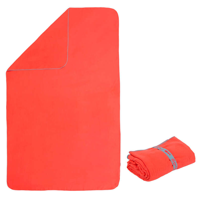 TOWELS Swimming - Microfibre towel L orange NABAIJI - Swimming