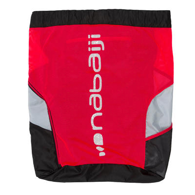 900 MESH SWIM BAG BLACK RED