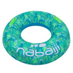 92 cm大型充氣式泳圈附舒適握把,ALL TROPI藍色