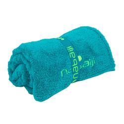 Serviette de bain microfibre ultra douce bleu taille L 80 x 130 cm