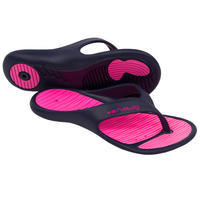 Women's Pool Flip-Flops Tonga 500 - Lay Blue Pink