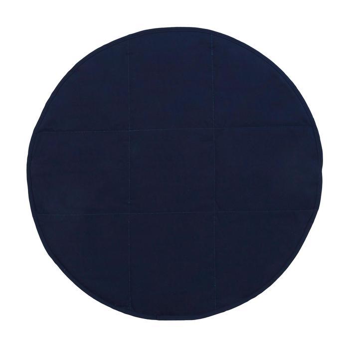Toalla pies doble cara de microfibra suave violeta oscuro diámetro 60cm