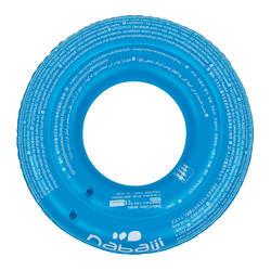 Opblaasbare zwemband 65 cm blauw met print voor kinderen van 6-9 jaar