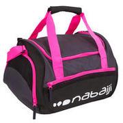 Črna in rožnata torba za plavanje 500 (30 l)