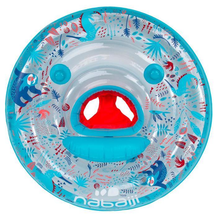 Flotador Asiento Bebé Natación Nabaiji Azul Estampado con Asas