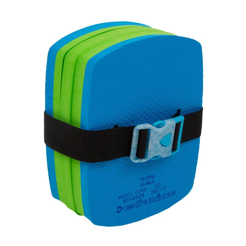 Zwemgordel met afneembare drijfhulp 15-30 kg blauw/groen