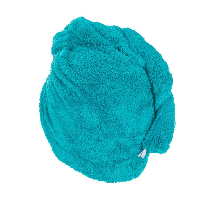 Swimming Soft Microfibre Hair Towel - Blue
