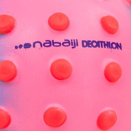 Petit ballon d'éveil aquatique rose et picots oranges