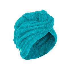 Toalha de natação para cabelo de microfibras macia azul