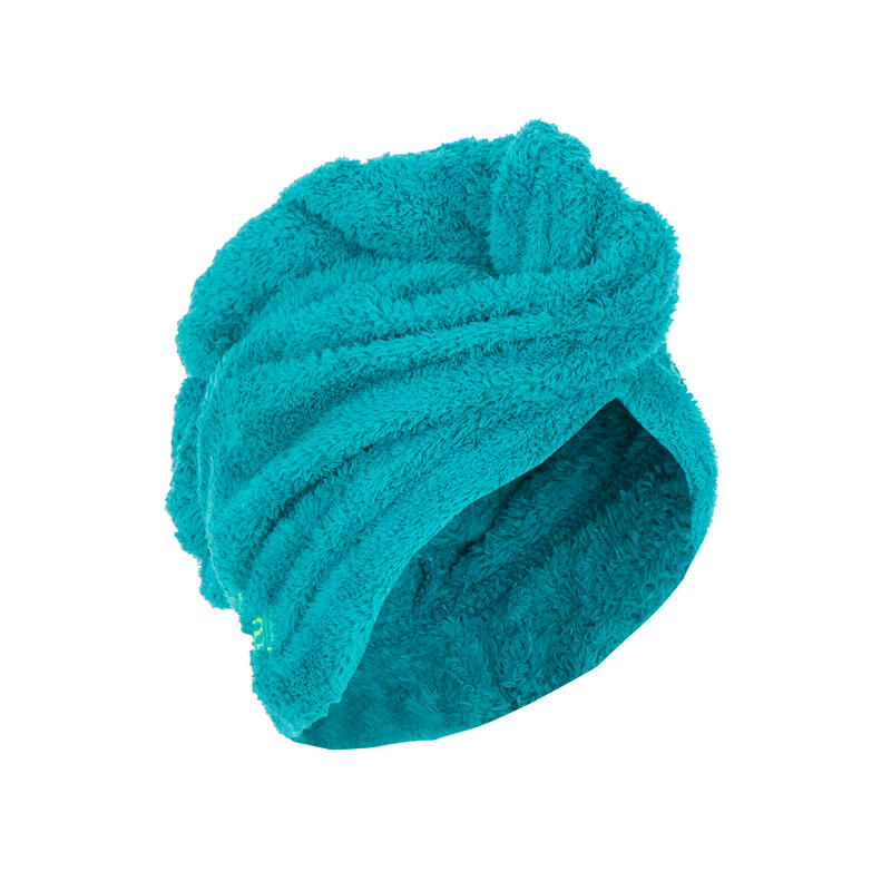 Toalla de microfibra suave para el cabello azul