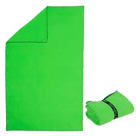 Microfibre Towel, L, Striped Light Green