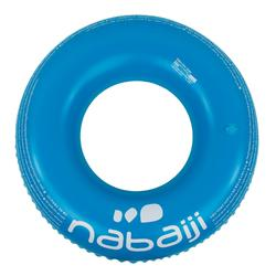 """Bouée gonflable bleue """"ALL TROPI"""" grande taille 92 cm avec poignées confort"""
