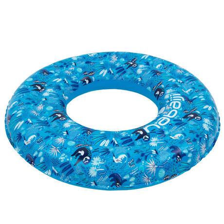 8183c176800 Blue kids' inflatable printed swim ring 6-9 Years 65 cm | Nabaiji