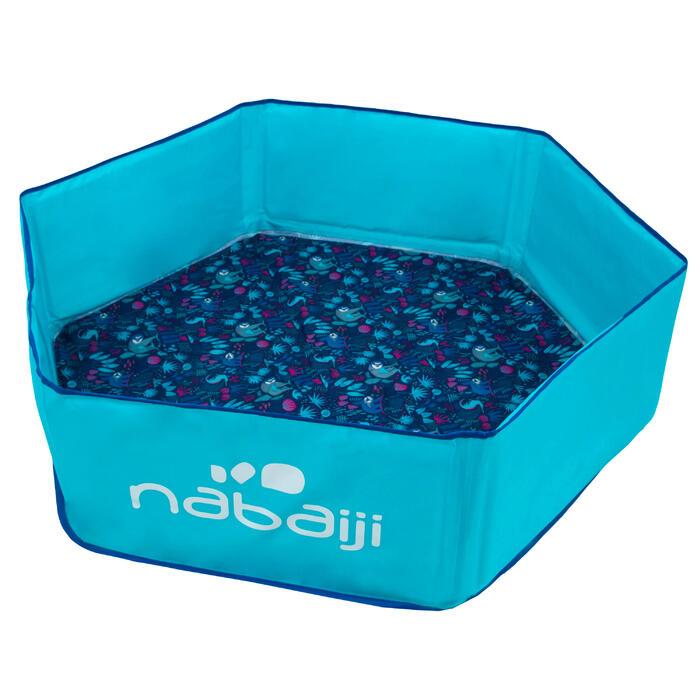 Piscinette enfant TIDIPOOL bleue avec sac de transport étanche 88,5 cm diamètre