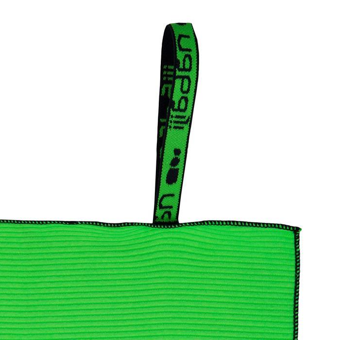 Microvezel handdoek streepstructuur L lichtgroen