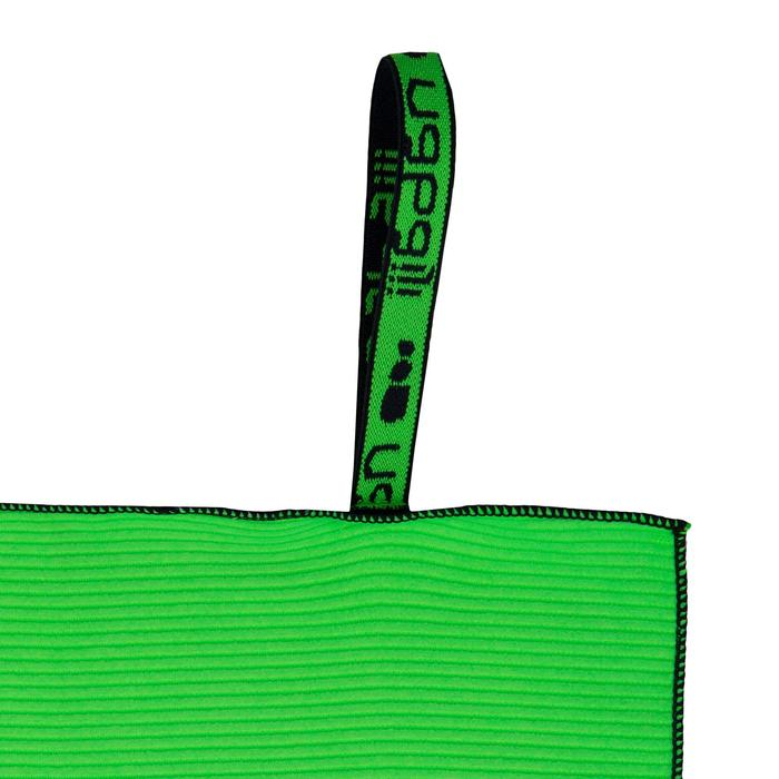Serviette microfibre à rayures vert clair L