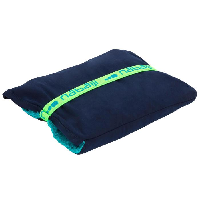 Tweezijdige zachte microvezel handdoek voor de voeten diameter 60 cm donkerpaars