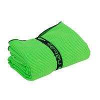 Serviette microfibre à rayures vert clair G