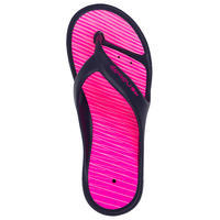 TONGS DE PISCINE FEMME TONGA 500 LAY BLEU ROSE