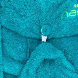 Zachte microvezel haarhanddoek blauw