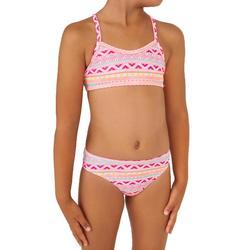 Meisjesbikini voor surfen topje zonder sluiting Boni Ulahe multicolor