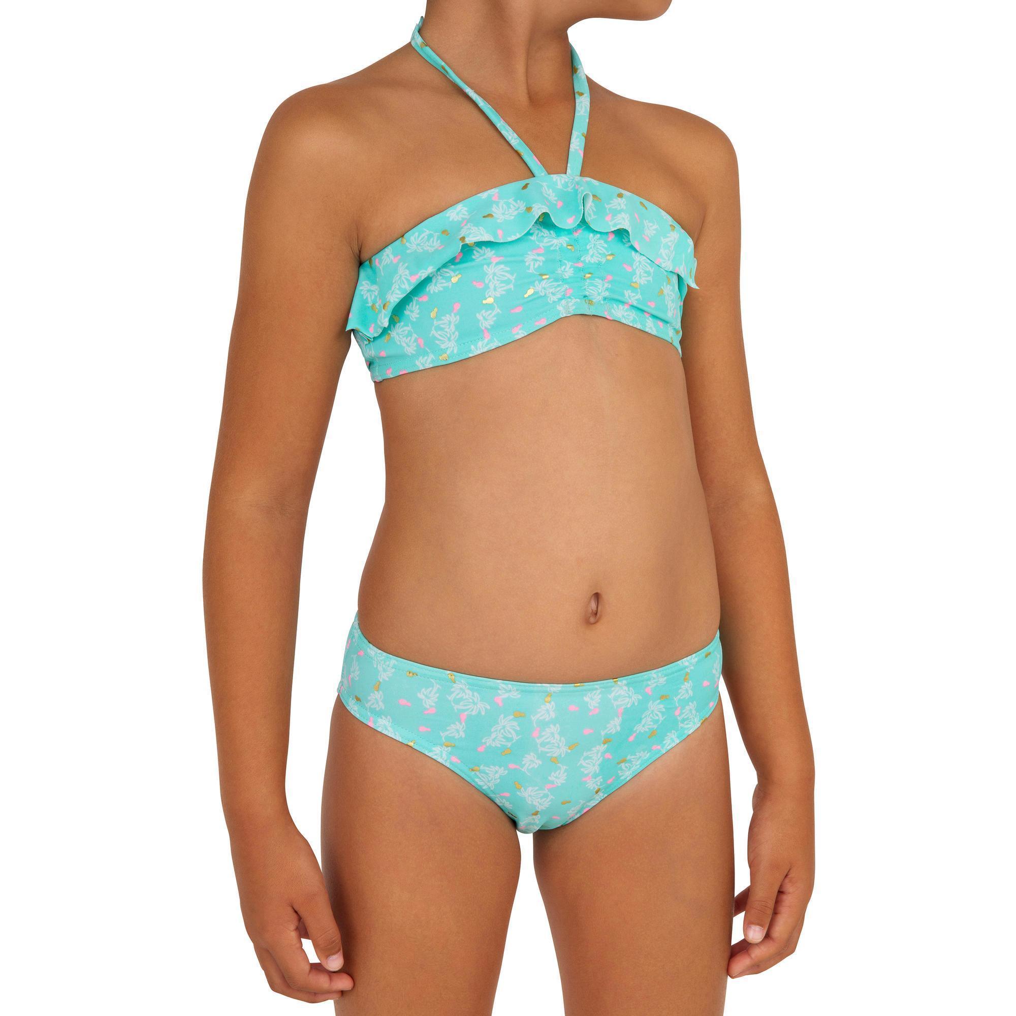 Bikini-Set Lily Palmy Frozen Surfen Mädchen hellblau