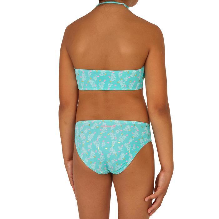 Bikini Completo Surf Olaian Lily Palmy Niña Azul Celeste