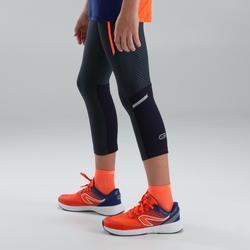 corsaire athlétisme enfant kiprun gris rouge