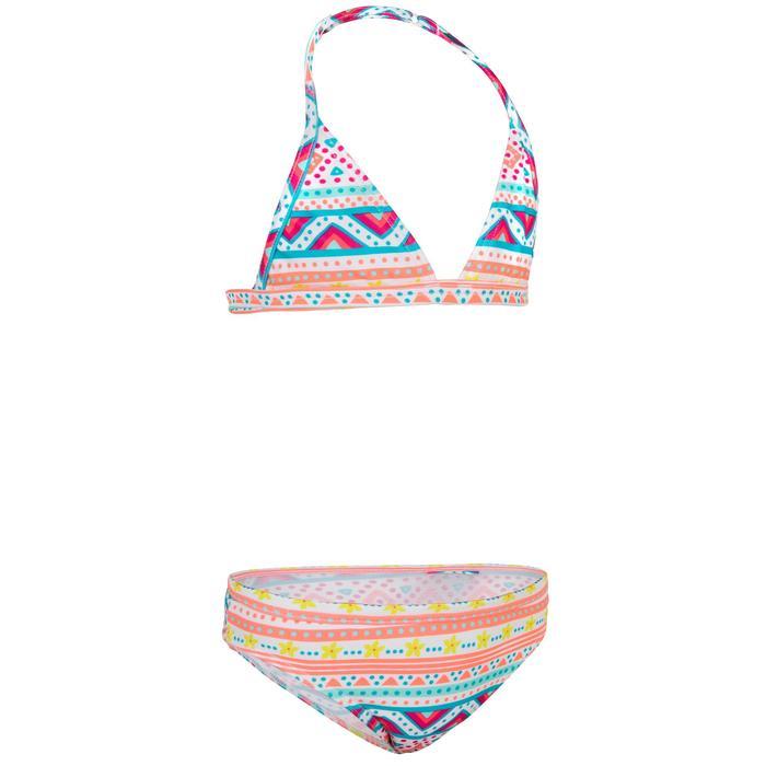 Meisjesbikini met triangeltop voor surfen Tina Vaiana roze