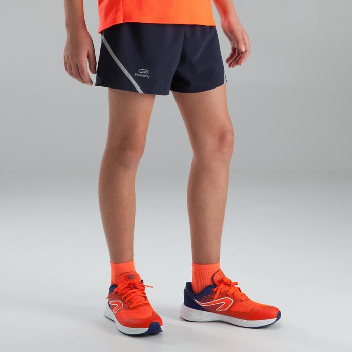 KIPRUN boy's athletics shorts grey fluo red