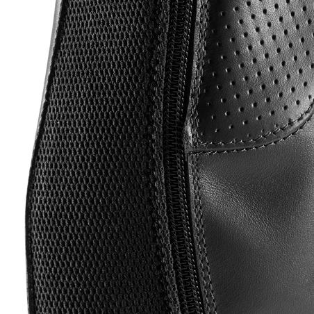 560 Adult Horse Riding Leather Half-Chaps - Black