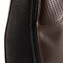 Mini-chaps cuir équitation adulte 560 marron