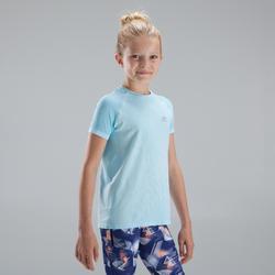 Atletiek T-shirt voor meisjes Skincare lichtblauw