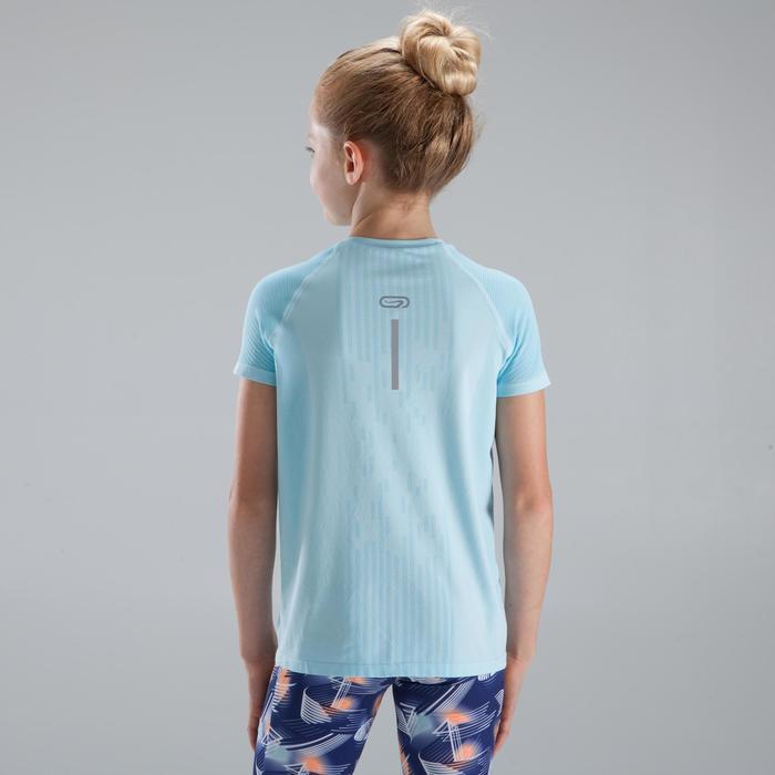 女童田徑T恤SKINCARE天空藍