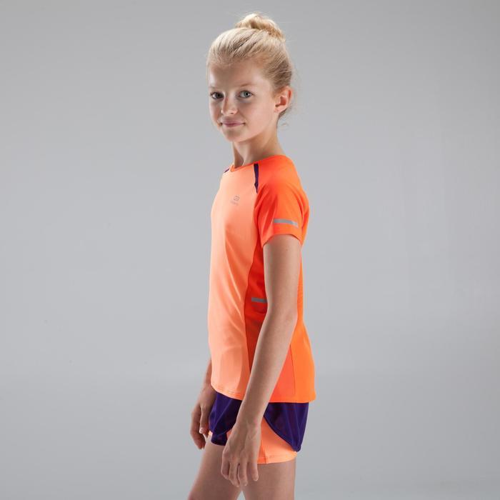 Camiseta Atletismo niña Kiprun rojo coral rojo púrpura