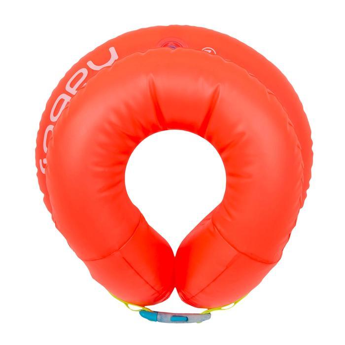 充氣式游泳背心橘色 18-30 KG