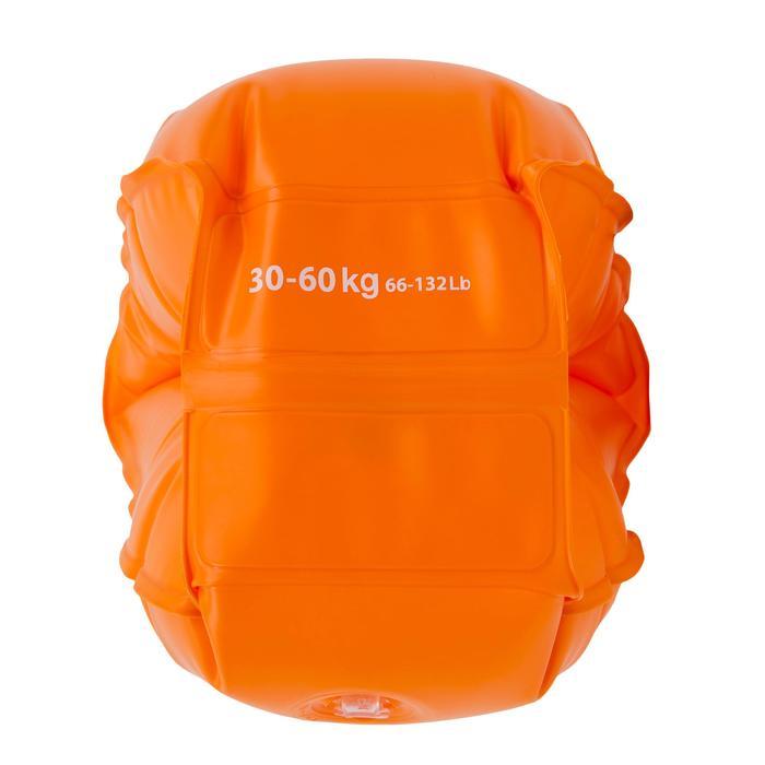 Manguitos Natación Nabaiji Naranja Fluorescente 30 a 60kg