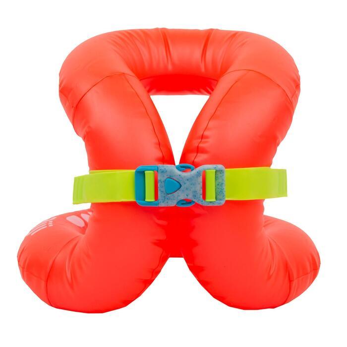 Opblaasbaar zwemvest voor kinderen oranje 18-30 kg