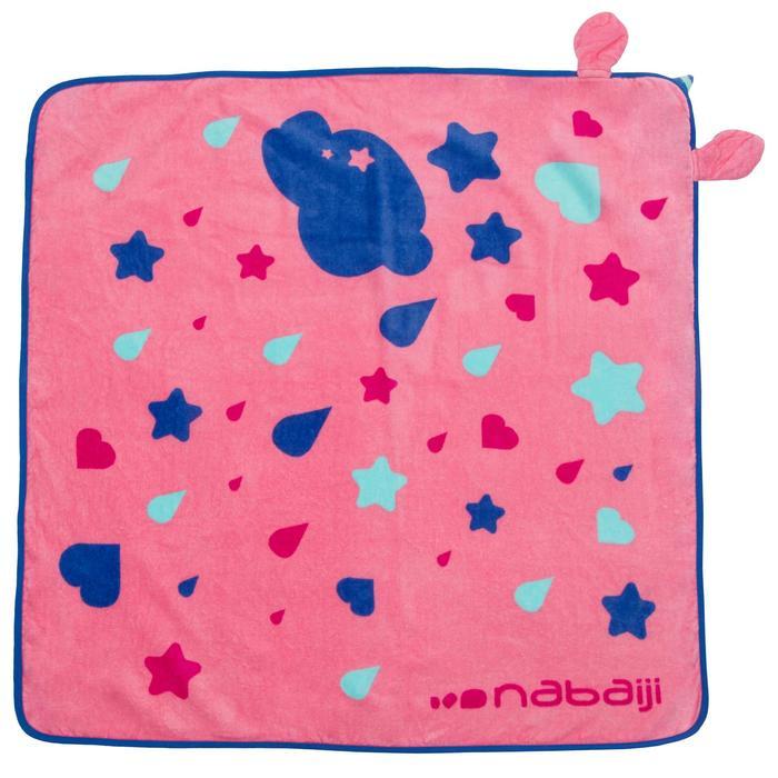Toalla Bebé Baño Piscina Nabaiji Estampado Unicornio Rosa Con Capucha