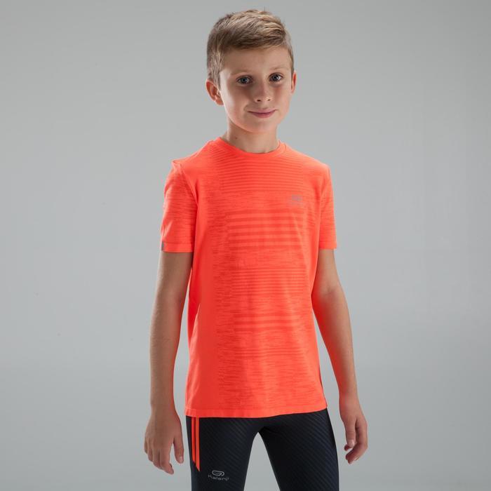 兒童款親膚田徑T恤 - 紅色