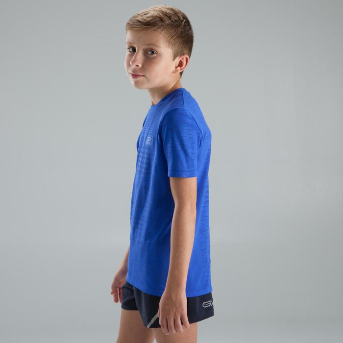 Laufshirt kurzarm Skincare Kinder blau