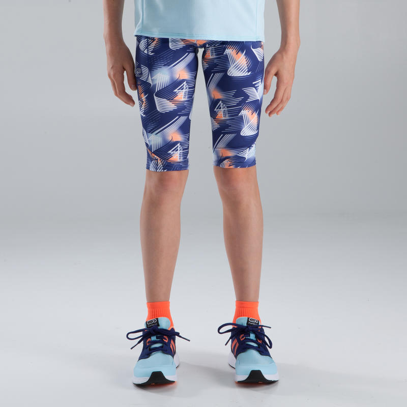 Run Dry children's athletics cropped bottoms - blue print