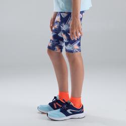 Laufhose 3/4 Tights Run Dry Kinder blau bedruckt